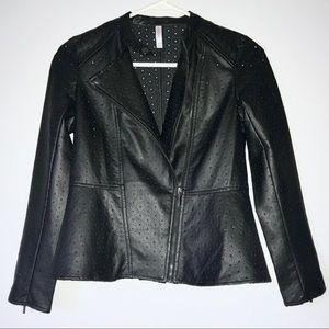Xhilaration Star Laser Cut Motorcycle Jacket